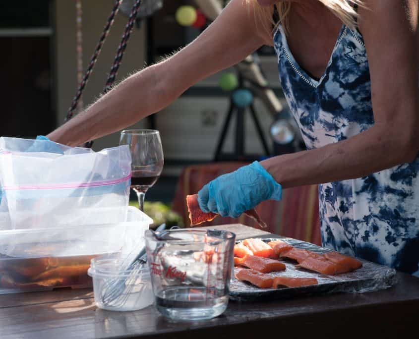 Preparing for Smoked Trout