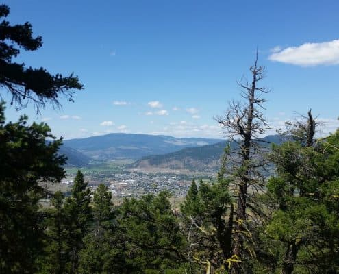 Merritt bc canada things to do-lookout from Ridge TMI trail crossing