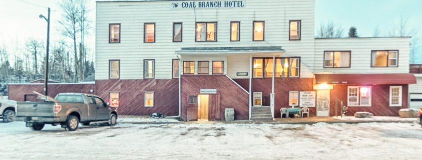Coal Branch Hotel Robb Alberta exterior front-2