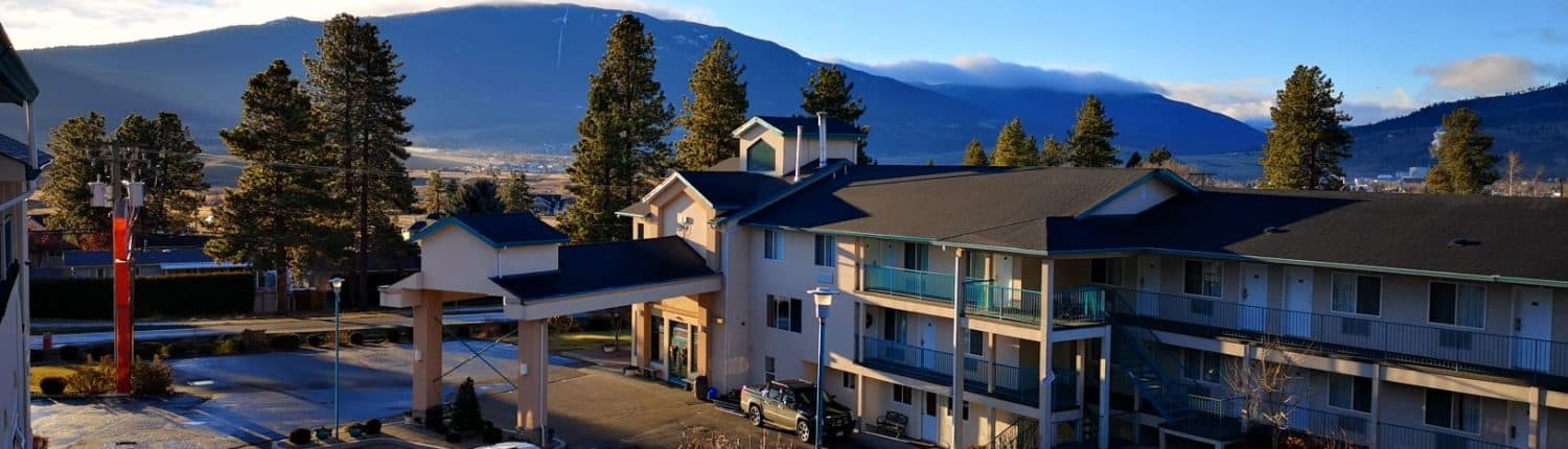 places to stay in Merritt BC Ramada patio view