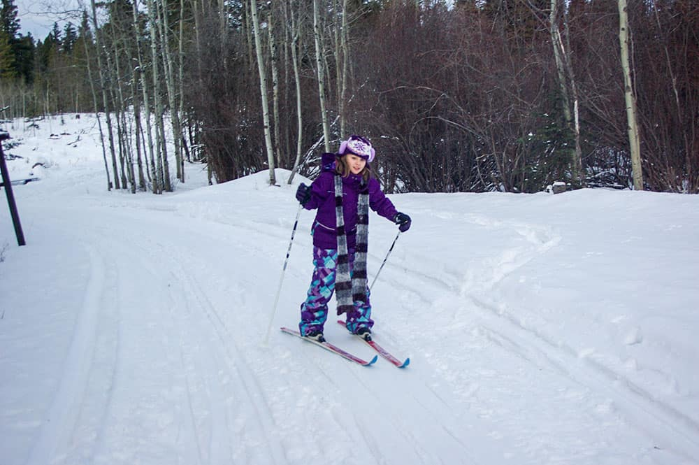 learning to x-country skiing family fun at Kane Valley