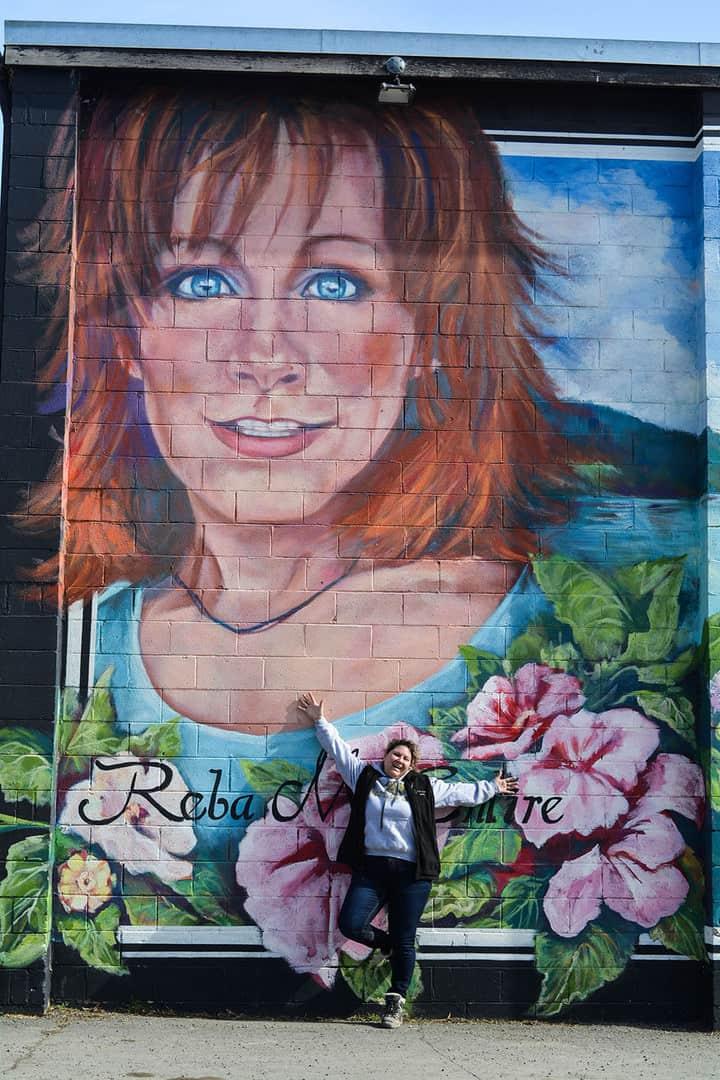Reba McEntire Mural in Merritt BC Canada