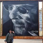 Merritt BC Canada Mural Selfie