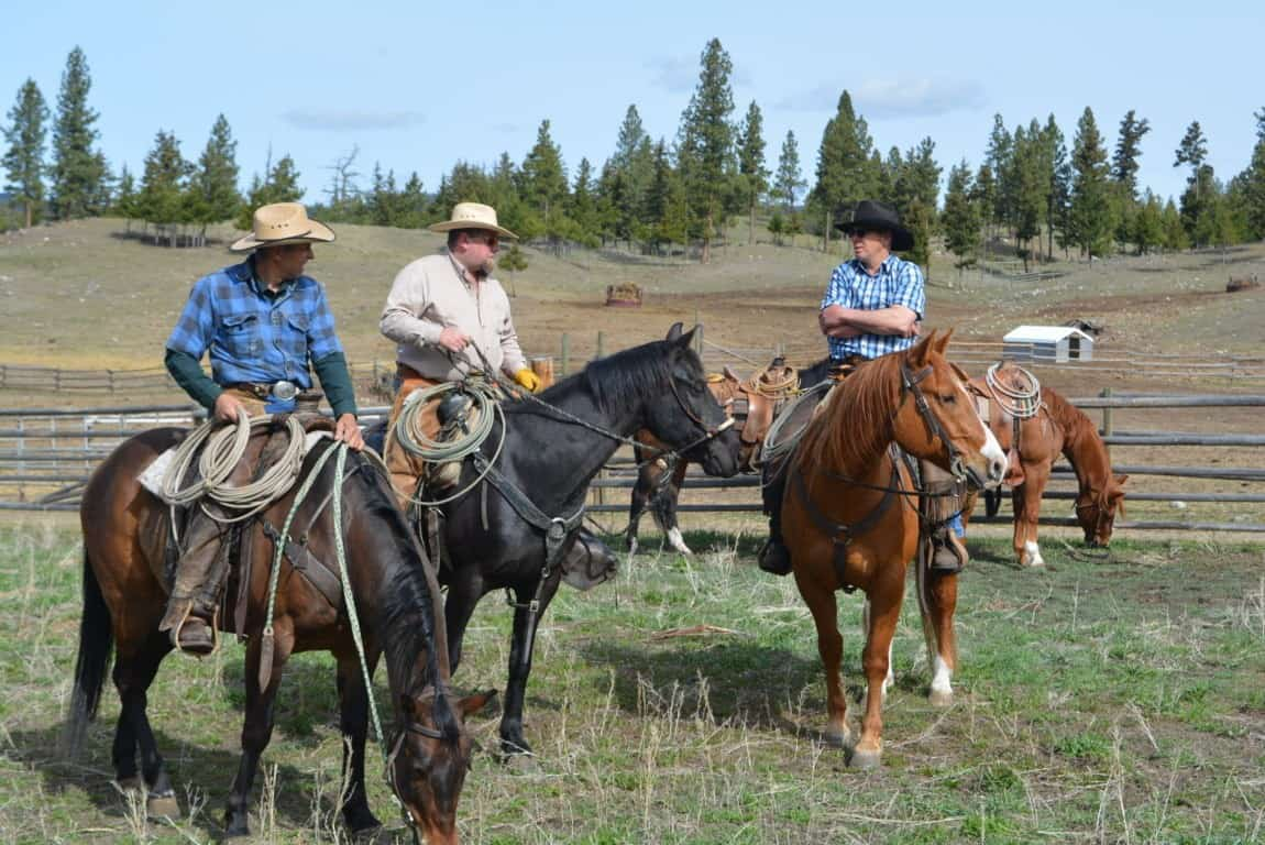Horseback riding in the Nicola Valley