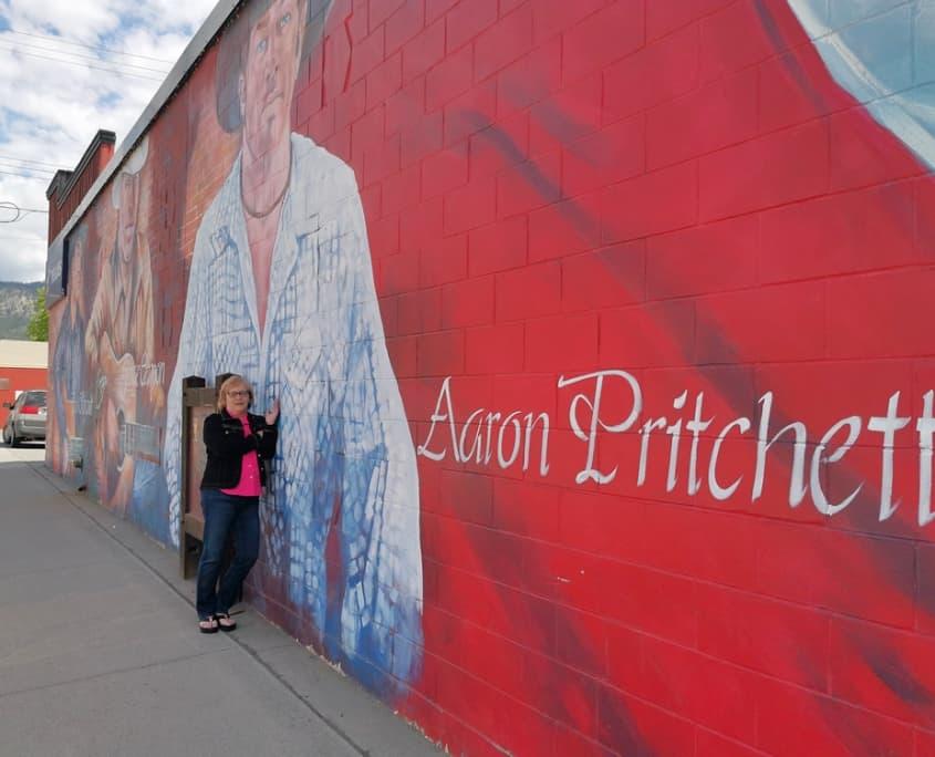 Aaron Pritchett on the wall