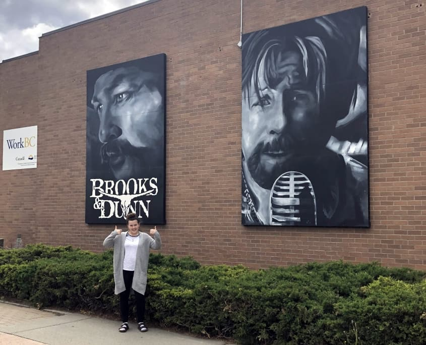 Brroks and Dunn Mural