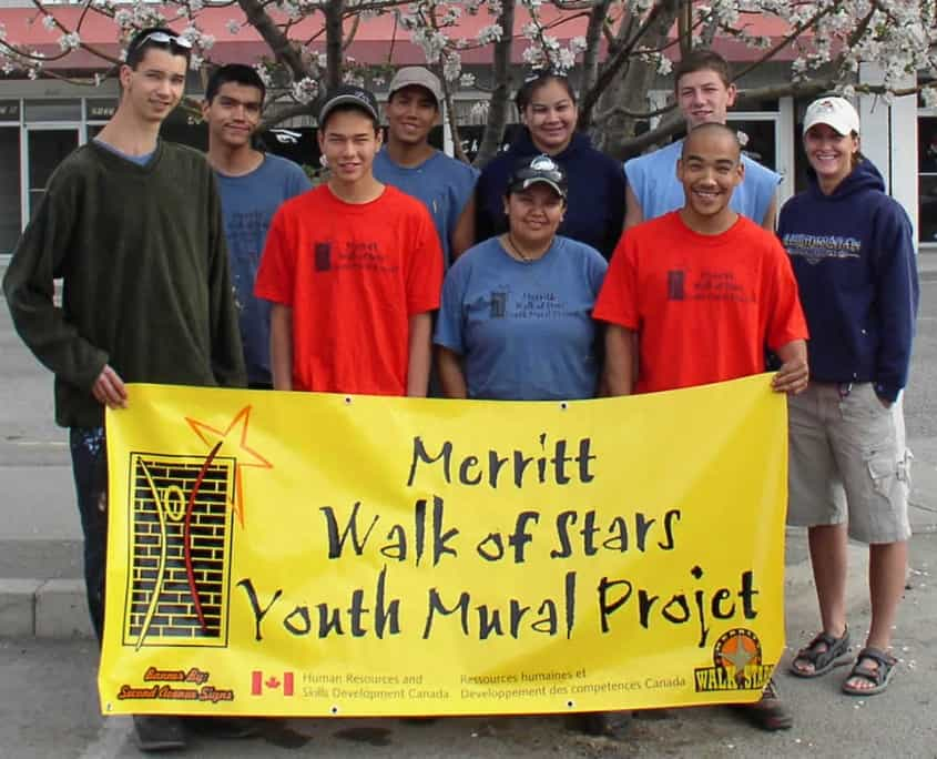 Youth at Risk Mural Project in Nicola Valley