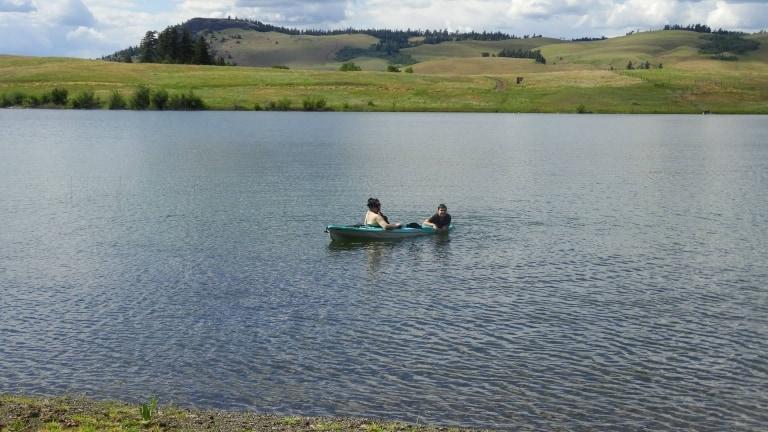 Kayaking Lundbom Lake in Merritt BC
