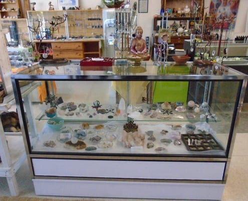 Merritt, B.C. Unique Businesses, display case