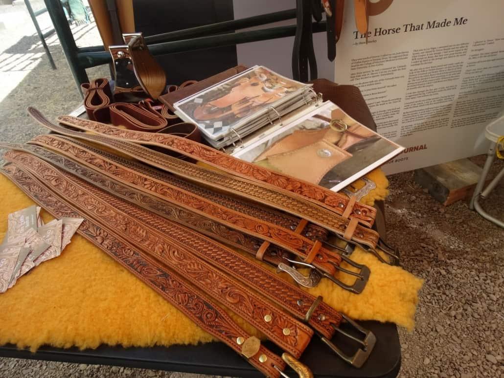 Don Loewen Saddlery leather belts