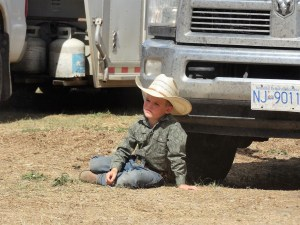 Young cowboy at the Nicola Valley Pro Rodeo