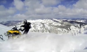 Snowmobiling on Tyme Mountain - Winters in Merritt, BC, Canada