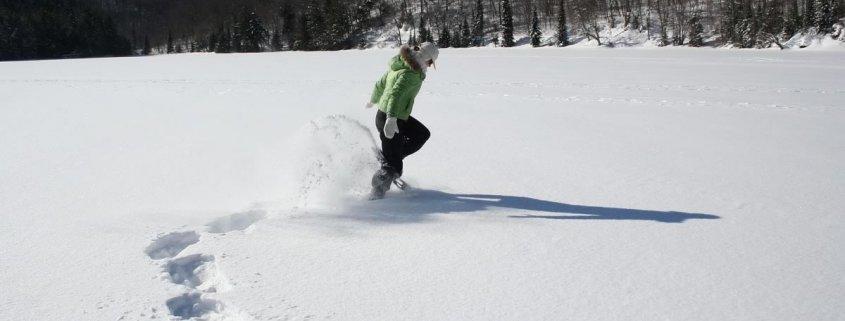merritt snowshowing