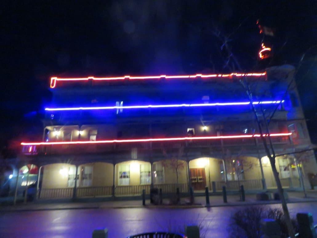 Merritt Lights Up Coldwater Hotel