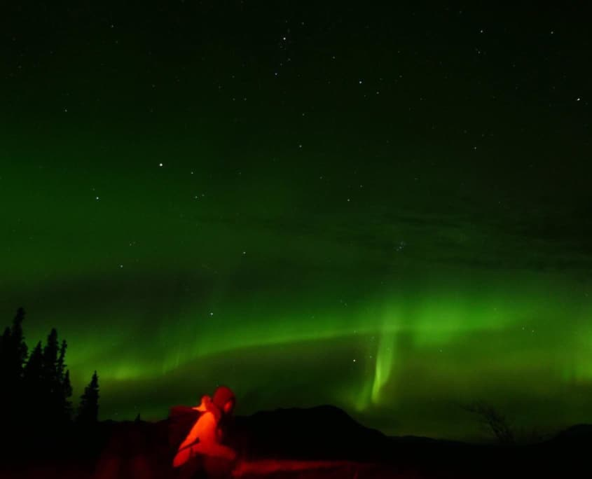 northern lights canada with Yuino Takeyama