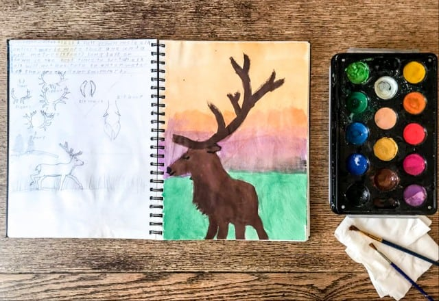 Home schooling art at home