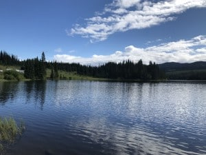 Paska Lake is camping near Merritt BC