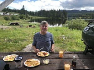 Breakfast is part of camping near merritt bc