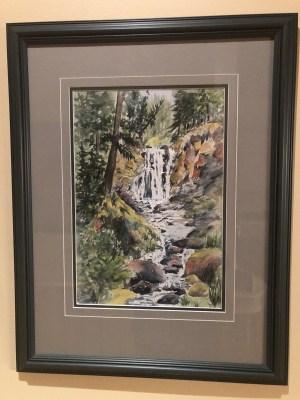Quiilchena Falls-Jean Kiegerl Painting