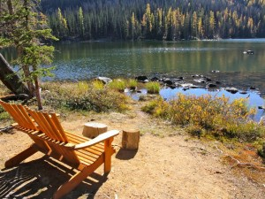 Cathedral Lakes reading spot